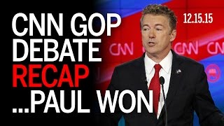 CNN GOP National Security Debate RECAP 12.15.15: Coughing and Warhawking
