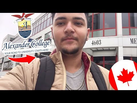 First Day Of College || Alexander College Burnaby CANADA