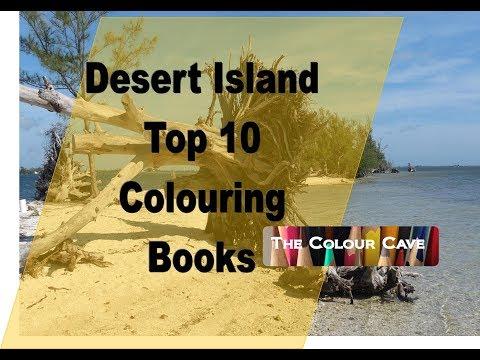 Desert Island Top 10 Colouring Books