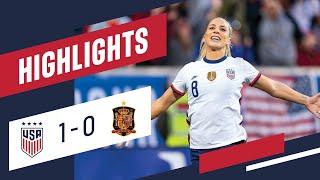 USWNT vs Spain SheBelieves Cup 2020 1 Minute Highlights JULIE ERTZ WINNER