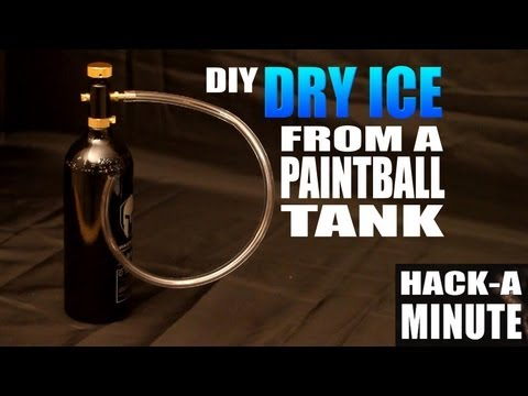 Make your own Dry Ice from a Paintball Tank!
