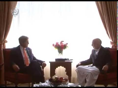 President Karzai's meeting with John Kerry US secretary of State - Aug 08, 2014