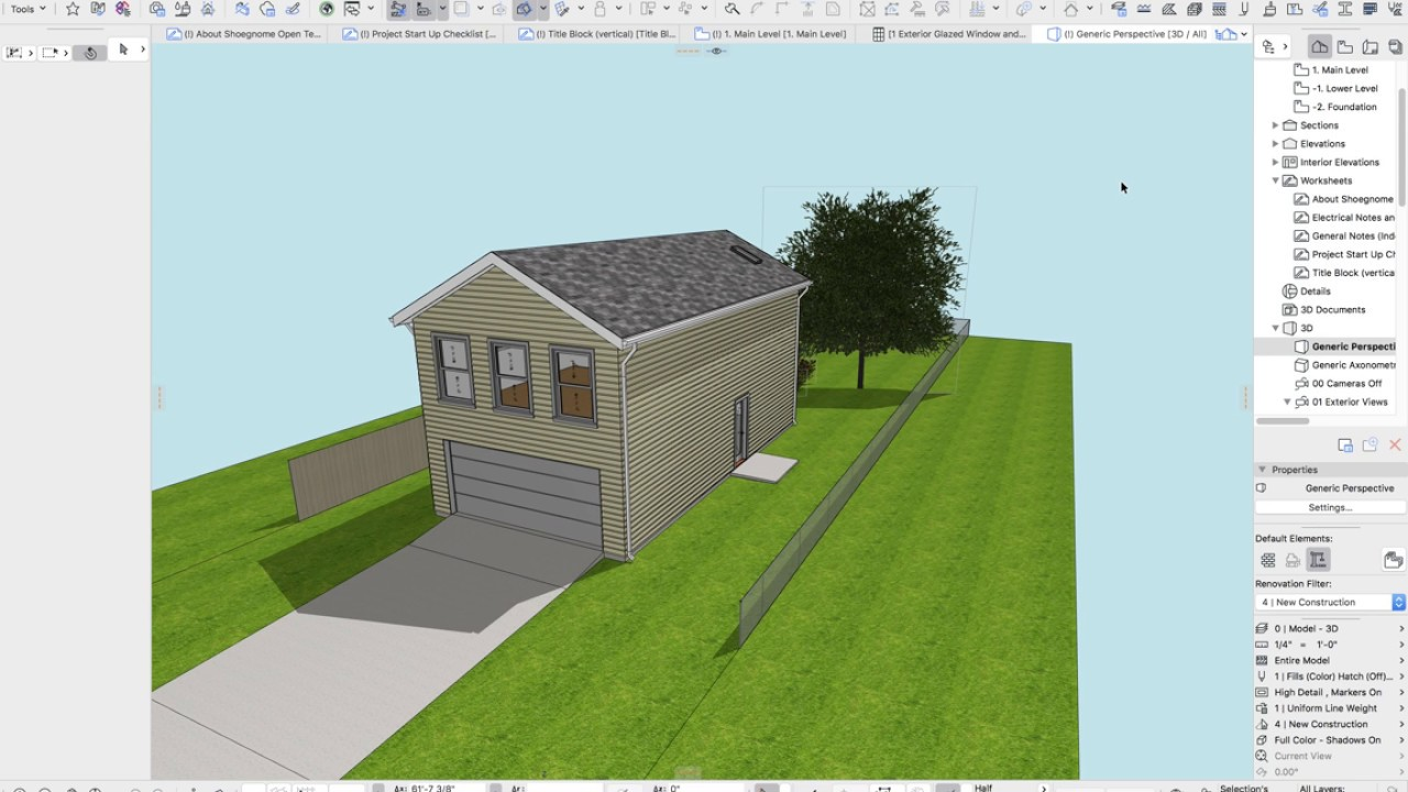 ARCHICAD Tip #63: Shoegnome Open Template v21 (2017)