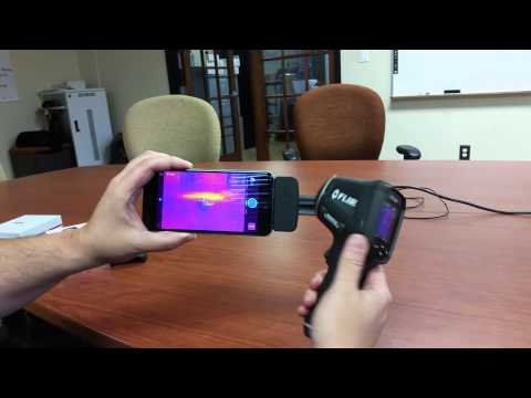 FLIR ONE for iOS Thermal Imaging Camera vs FLIR TG165 Spot IR Thermal Thermometer
