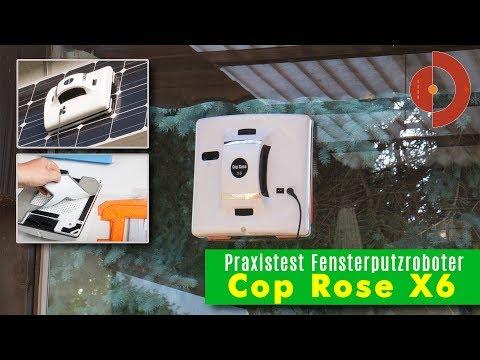 Fensterputzroboter Test Cop Rose X6