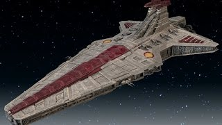 Venator Class Star Destroyer Review and Crash!   Space Engineers!