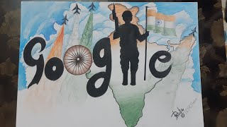 How i draw google doodle | Google Doodle for india | doodle drawing