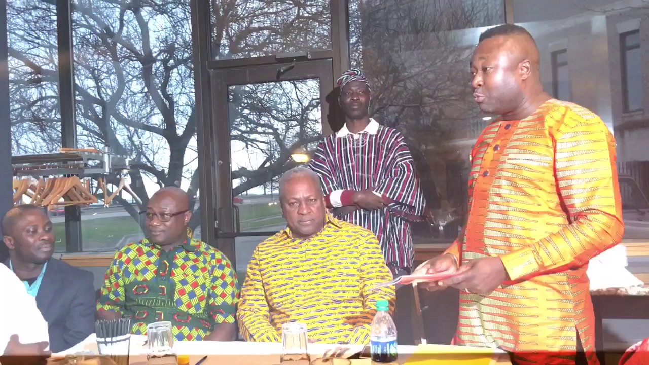 President mahama visit ghana national council members in chicago