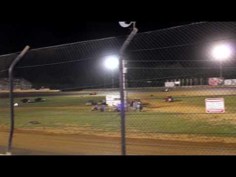 Jason Wheatley takes the checkered flag @ Bluegrass Speedway
