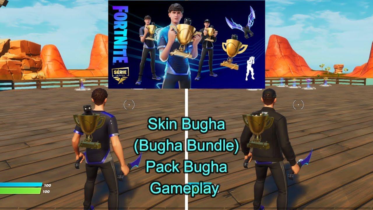 Skin Bugha (Bugha Bundle) Pack Bugha Gameplay Fortnite