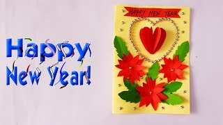 handmade New Year Gratting card | How to make new year 2019 card | New Year Card Idea...
