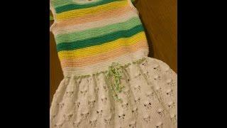 Платье для девочки спицами Бабочки.