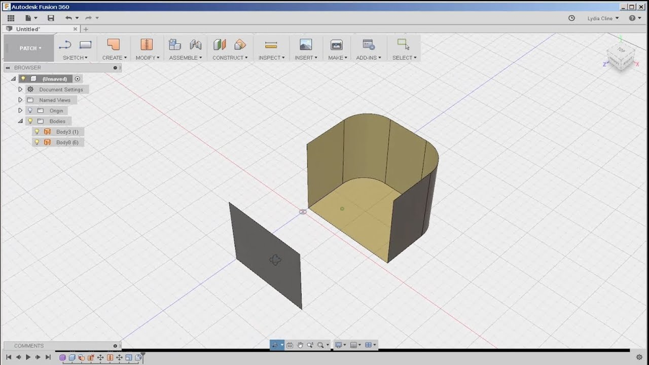 Fusion 360: Model/Patch Workflow, Patch Tools