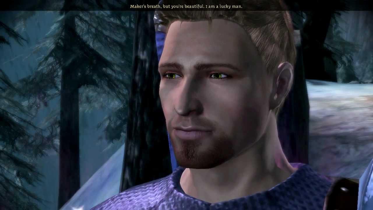Dragon Age: Origins - Alistair's love confession to female dalish elf Ella