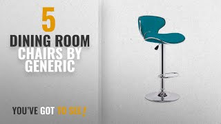 Top 10 Generic Dining Room Chairs [2018]: Modern Set of 2 Leather Adjustable Bar Stools Home Height