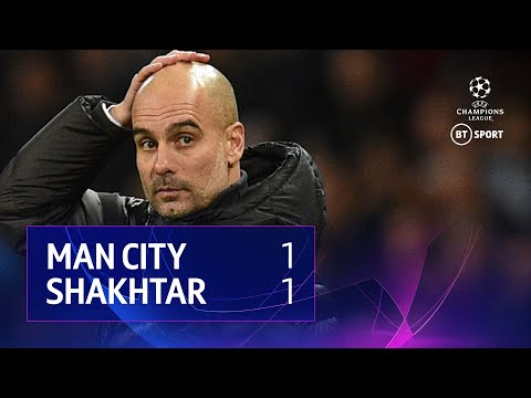 Man City vs Shakhtar Donetsk (1-1) | UEFA Champions League Highlights