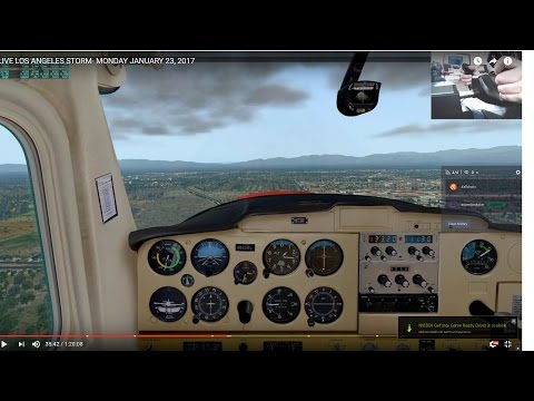 XPLANE 11 SAN DIEGO TO VAN NUYS +  REAL TIME + WEATHER + INSTRUCTOR