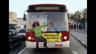 Заблудившийся автобус-убийца. #Автобус #1апреля #тормоз #ручник