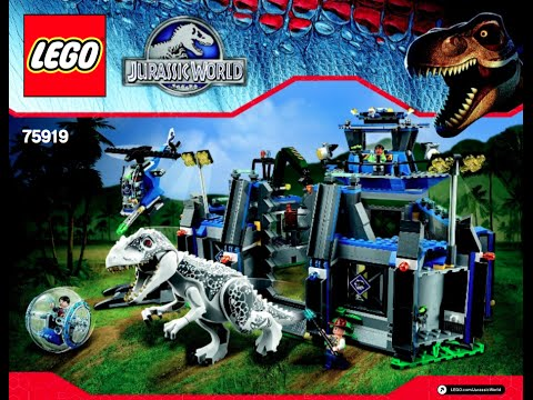 How To Build Lego 75919 Indominus Rex Breakout Instructions Youtube
