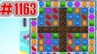 Candy Crush Saga Level 1163, NEW! Complete!