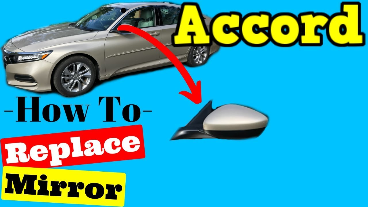NEW Wing Mirror Glass HONDA ACCORD Driver side 2007-/>