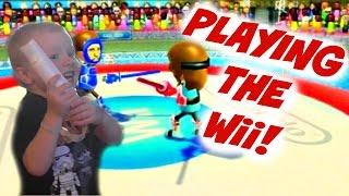 Fun Playing Nintendo Wii! Sword Fighting!