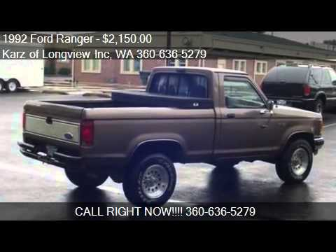 1992 ford ranger xlt pkg short box 4x4 for sale in longv