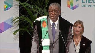 Discours de Denis Mukwege - Rentrée Académique 2018 de l'Université de Liège