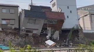 「家が崩れそうだ」直後、民家2棟4軒崩落 大阪・西成