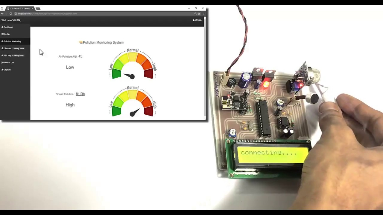 IOT Air & Sound Pollution Monitoring Project