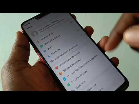 How to set privacy passcode for app lock in Oppo A3S
