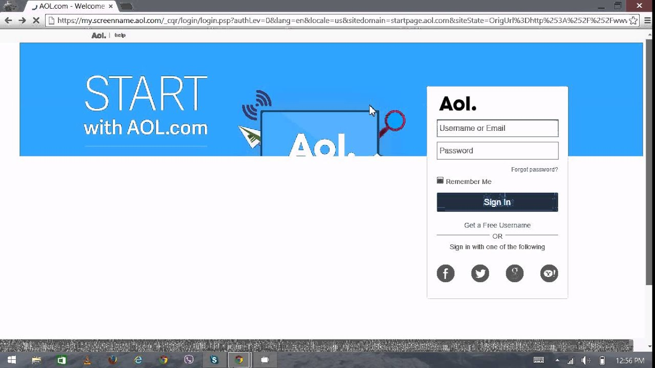 AOL Mail Login Screen   AOL Mail Sign In | AOL.com 2015   YouTube