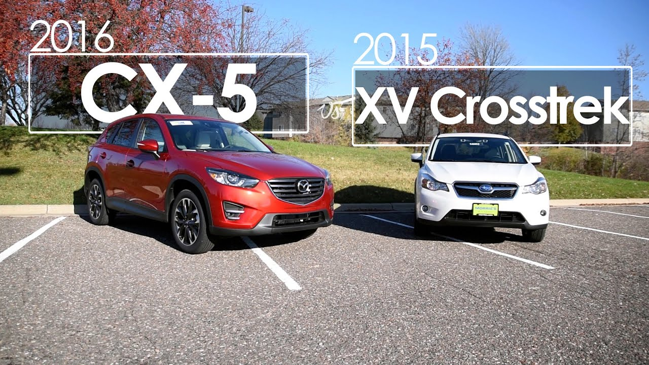 CX 5 XV Crosstrek Model parison 2016 & 2015