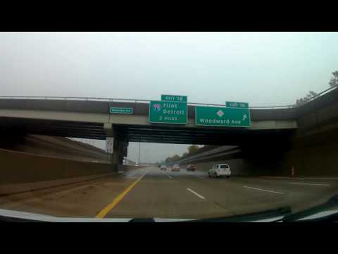 Driving from Southfield, Michigan to Sterling Heights, Michigan