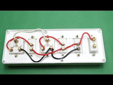 How to Make An Electric Extension Board two Sockets with Individual Switch and indicator or fuse
