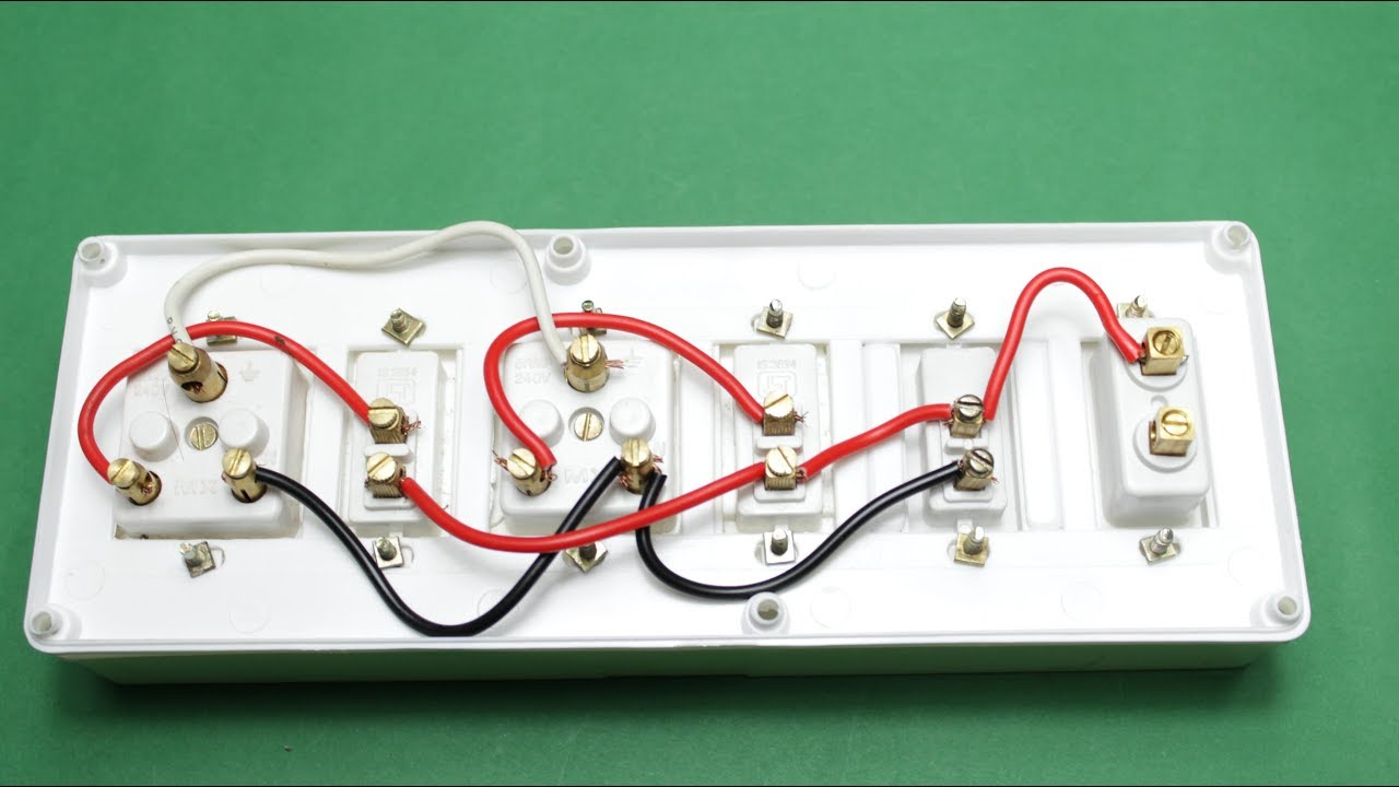 how to make an electric extension board two sockets with individual rh youtube com wiring extension cord to light long wire extension board