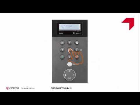 ECOSYS P2040dw Configuración WiFi direct usando KYOCERA Mobile Print