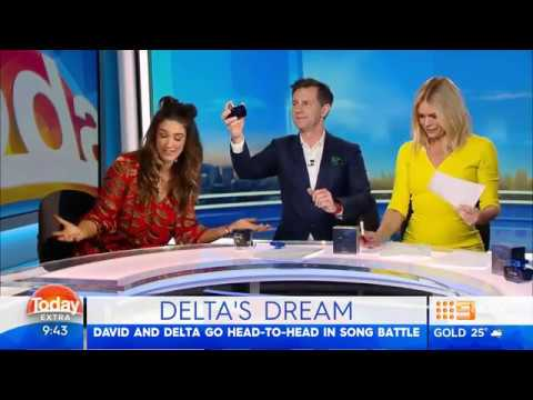 Delta Goodrem on TODAY EXTRA - 6th August 2018