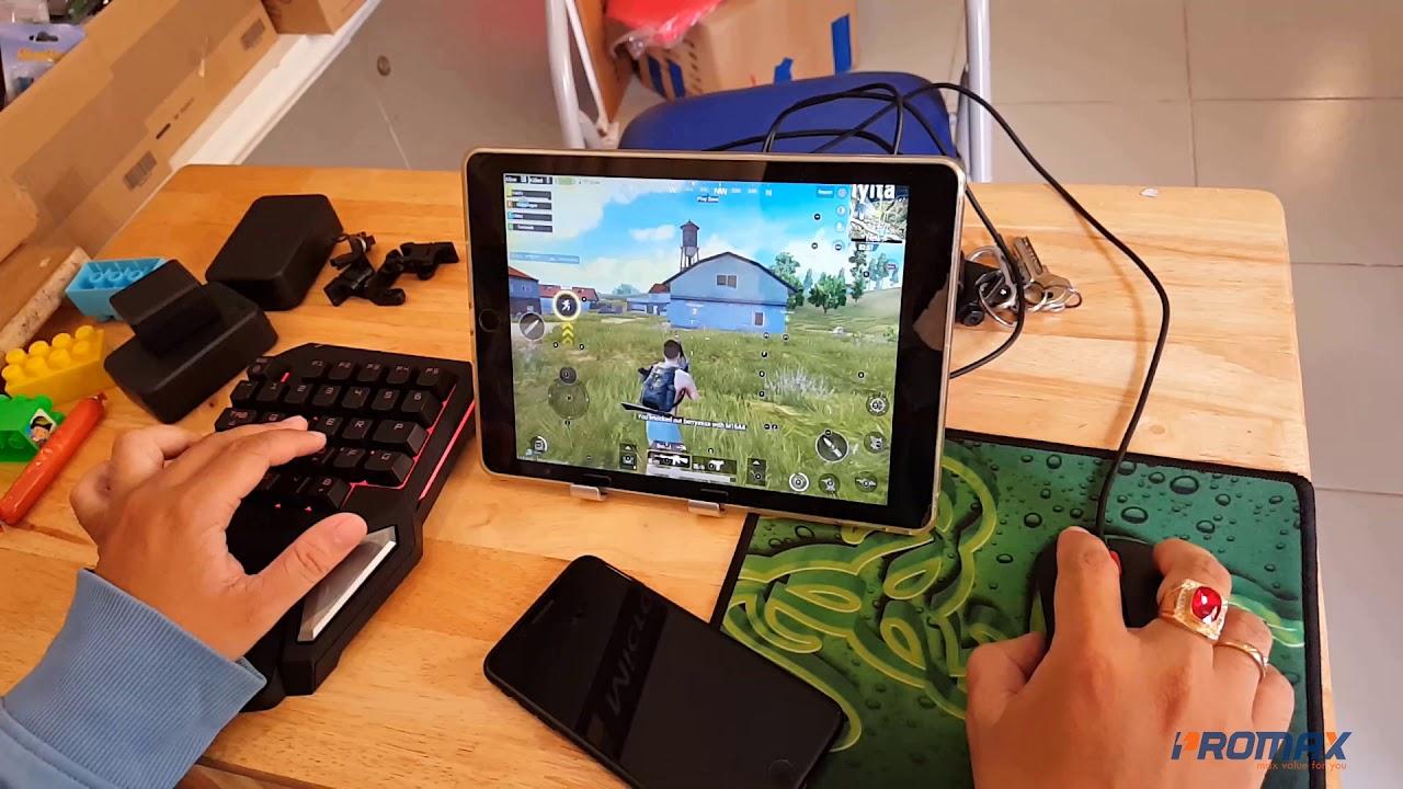 Chơi PuBg Mobile như Pc bằng chuột và bàn phím bán cơ một tay T9 Pro và Gamesir dock X1