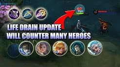 LIFE DRAIN WILL COUNTER ALL HEALS - INDIRECT NERF TO FANNY, GUSION AND MORE - MLBB