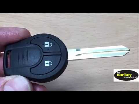 new nissan micra juke remote key how to change key battery youtube. Black Bedroom Furniture Sets. Home Design Ideas