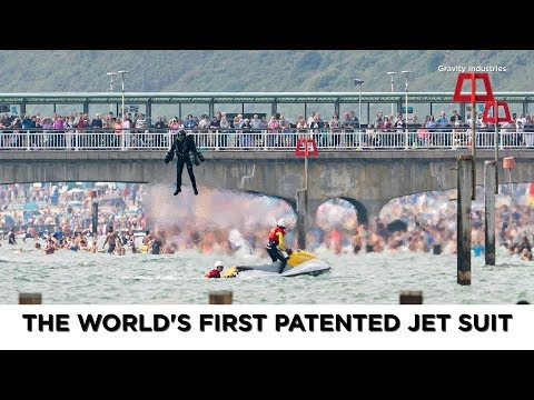 Humans can now fly with the world's first patented jet suit