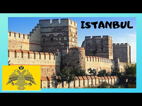The very historic Byzantine Walls, ISTANBUL (Turkey)