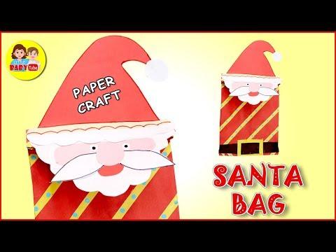 How To Make Santa Paper Bag | Merry Christmas | Paper Crafts | DIY Bag