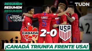 Resumen y Goles | Canadá 2 - 0 USA | Concacaf NATIONS LEAGUE | TUDN Video
