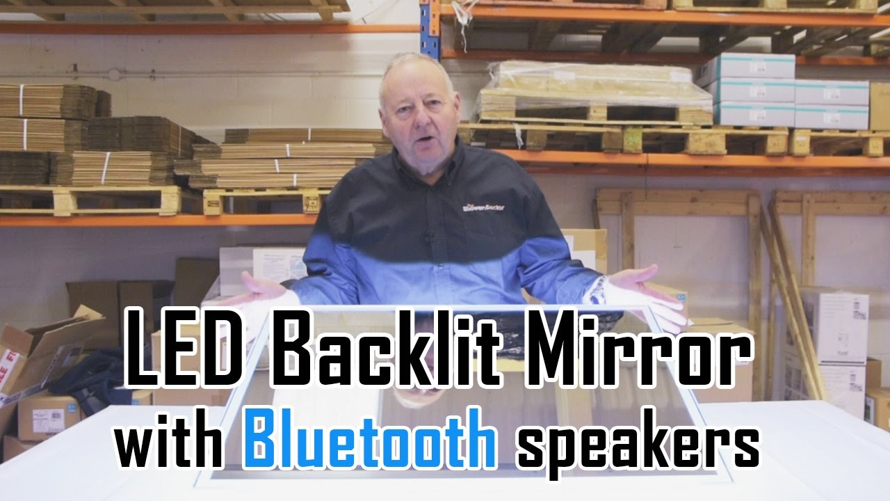 Bluetooth Bathroom Mirror Youtube led backlit bathroom mirror with bluetooth speakers: unboxing