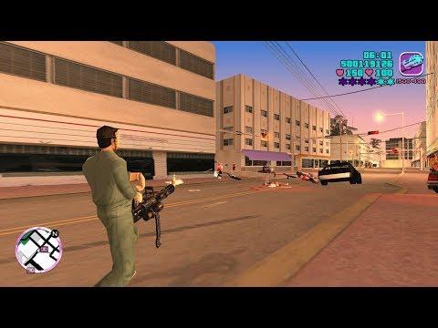 GTA Vice City (PC) | Minigun Rampage | Six Star Escape | 1080p