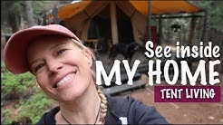 Look Inside My Home - Canvas Tent Living - Tour Items In My Tent, Spirit Forest - Season 2 -Ep#43