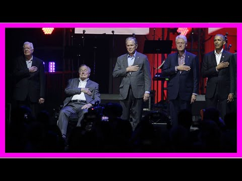 Box TV - Five former presidents attend hurricane relief event