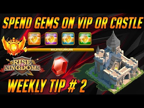 Spend Gems On VIP Or Castle For All Governors [ Weekly Tip # 2] | Rise Of Kingdoms